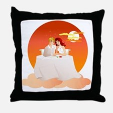 On Cloud Nine - The Perfect Date Throw Pillow