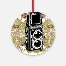 Vintage Camera Round Ornament