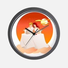On Cloud Nine - The Perfect Date Wall Clock