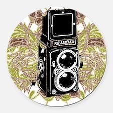 Vintage Camera Round Car Magnet