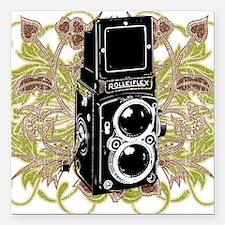 "Vintage Camera Square Car Magnet 3"" x 3"""
