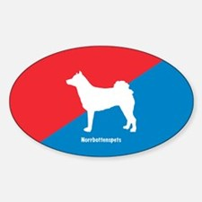 Norrbottenspets Oval Decal