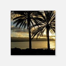 """North Shore Oahu Square Sticker 3"""" x 3"""""""