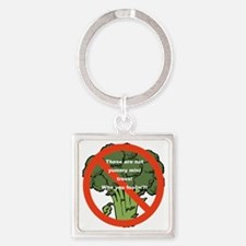 Yummy Mini Trees - Not! Square Keychain