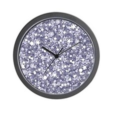 Silver sparkles seamless pattern backgr Wall Clock