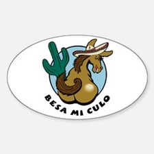Besa Mi Culo Oval Decal