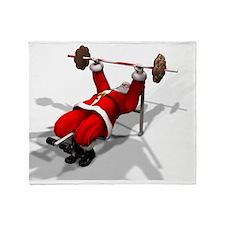 Santa Fitness Throw Blanket