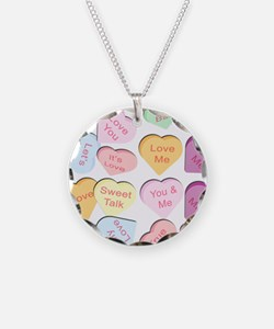 Repeating Hearts Pattern Necklace
