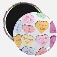 Repeating Hearts Pattern Magnet