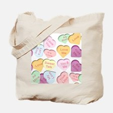 Repeating Hearts Pattern Tote Bag