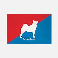 Buhund Rectangle Magnet (100 pack)