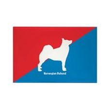 Buhund Rectangle Magnet