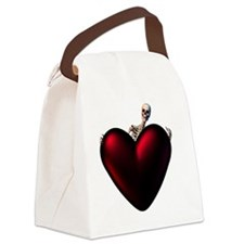 Skeleton With Dark Heart Canvas Lunch Bag