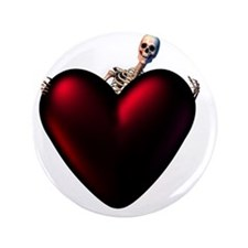 "Skeleton With Dark Heart 3.5"" Button"