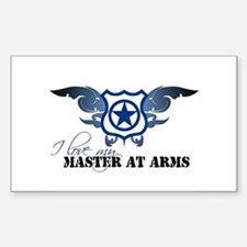 Master at Arms Rectangle Decal
