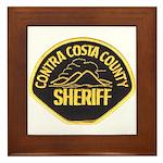 Contra Costa Sheriff Framed Tile