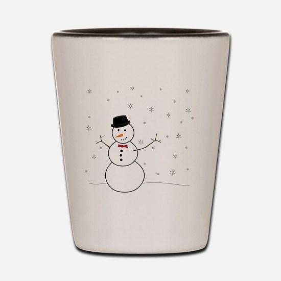 Snowman Illustration Shot Glass