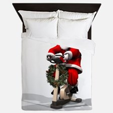 Santa Fitness 2 Queen Duvet