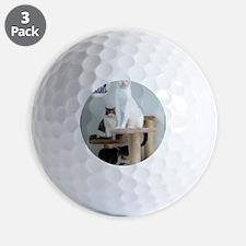 Cats on Pedestals Golf Ball