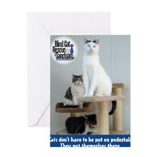 Cats on Pedestals Greeting Card