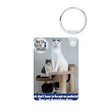 Cats on Pedestals Keychains