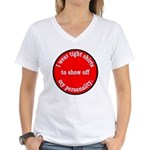 Personality Women's V-Neck T-Shirt