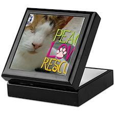 Peace Love Rescue Keepsake Box