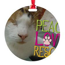 Peace Love Rescue Ornament