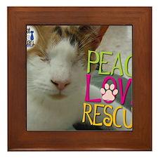 Peace Love Rescue Framed Tile