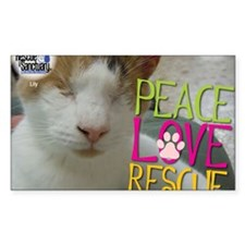 Peace Love Rescue Decal