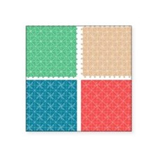 "Seamless abstract pattern s Square Sticker 3"" x 3"""