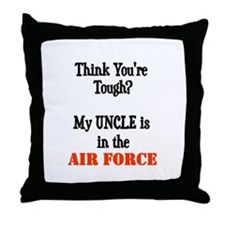 Unique Air force my daughter Throw Pillow