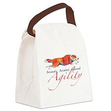 BeautyBrainsSpeed.png Canvas Lunch Bag