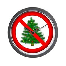 sign: no christmas for you! Wall Clock