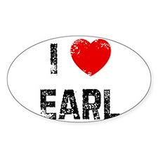 I * Earl Oval Decal