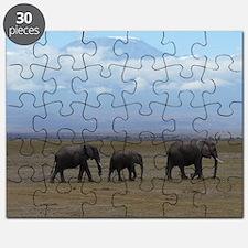 Elephants with Kilimanjaro Puzzle