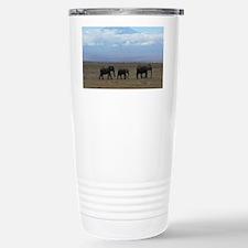 Elephants with Kilimanj Stainless Steel Travel Mug