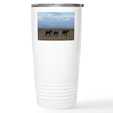 Elephants with Kilimanj Travel Mug