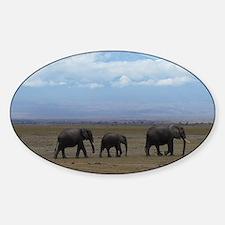Elephants with Kilimanjaro Decal