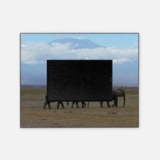 Elephants with Kilimanjaro Picture Frame