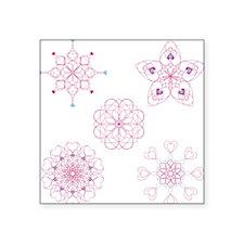 """Valentine Lace Square Sticker 3"""" x 3"""""""