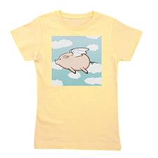 When Pigs Fly Vector Girl's Tee