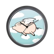 When Pigs Fly Vector Wall Clock