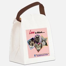 Love is Blind in Pink Canvas Lunch Bag