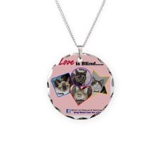Love is Blind in Pink Necklace