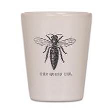 Vintage queen bee Shot Glass