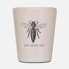 Vintage queen bee Shot Glass