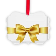 Envelope Face With Golden Bow, Is Ornament