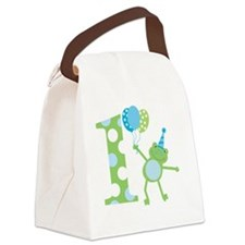 Leap Frog 1st Birthday with Party Canvas Lunch Bag