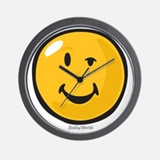 sarcasm smiley Wall Clock